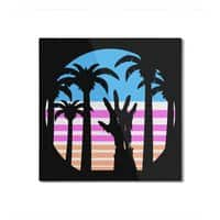 Trouble in Paradise - square-mounted-aluminum-print - small view