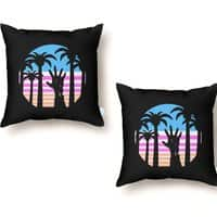Trouble in Paradise - throw-pillow - small view