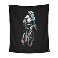RIDE IN 3D - indoor-wall-tapestry-vertical - small view
