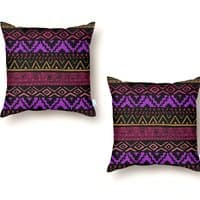 Aztec Madness - throw-pillow - small view