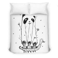 Fake Pandas Have More Fun - duvet-cover - small view