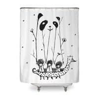 Fake Pandas Have More Fun - shower-curtain - small view