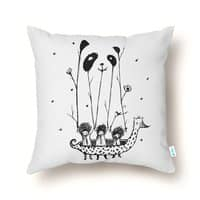 Fake Pandas Have More Fun - throw-pillow - small view