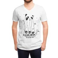 Fake Pandas Have More Fun - vneck - small view