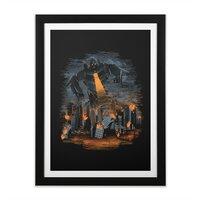 Evil Will Burn - black-vertical-framed-print - small view