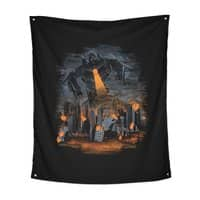 Evil Will Burn - indoor-wall-tapestry-vertical - small view