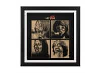 LET IT (ZOM)BE - black-square-framed-print - small view