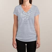 Lines Mutation - womens-sublimated-v-neck - small view