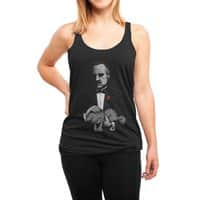 Boss' Cat - womens-triblend-racerback-tank - small view