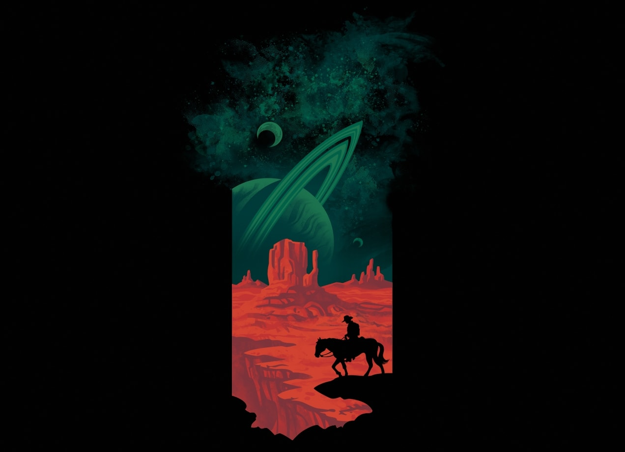 Final frontiersman by waynem threadless for Outer space design richmond