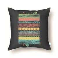 The Flat Earth - throw-pillow - small view