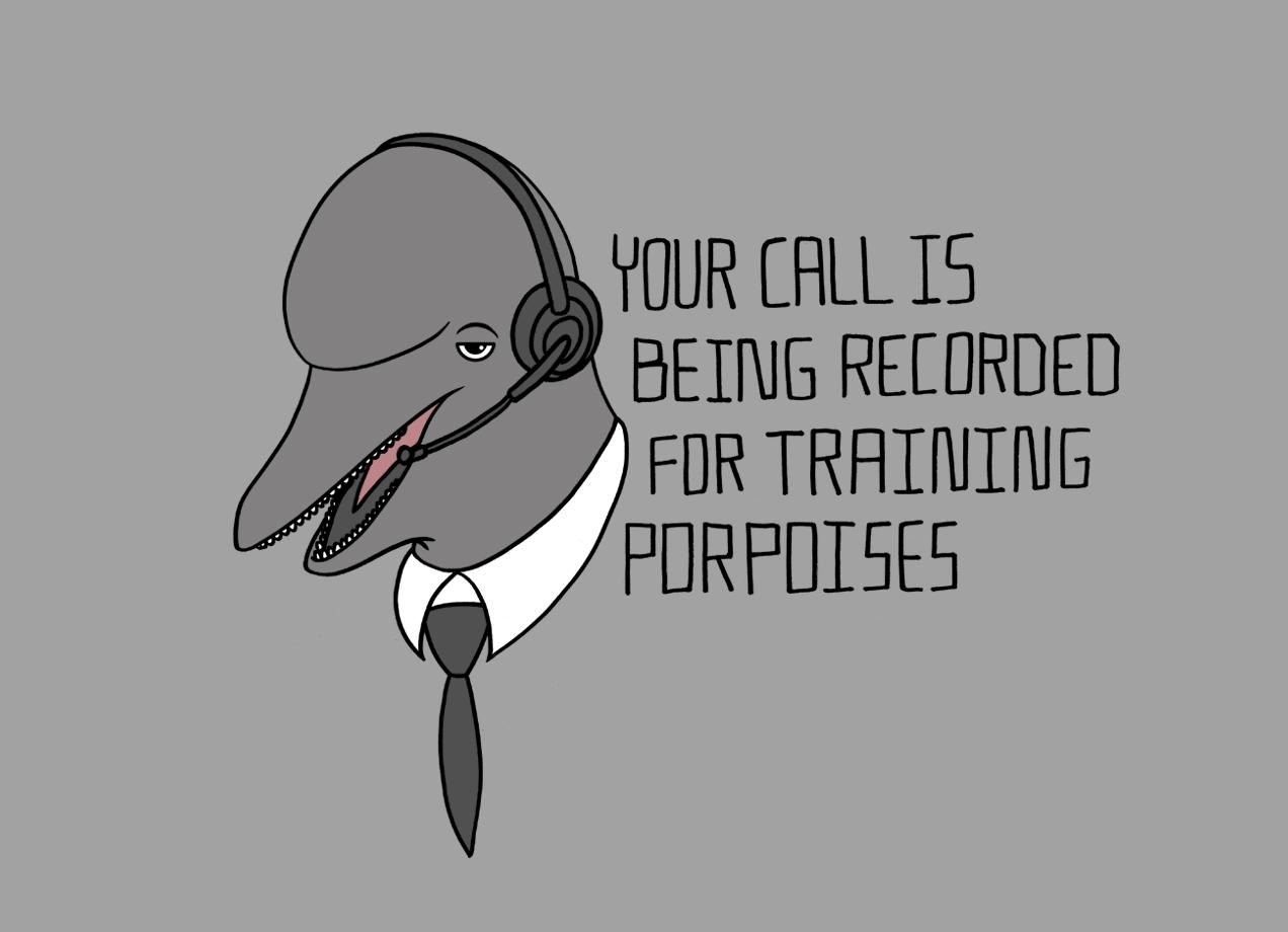 For Training Porpoises By Steve Wilson Threadless