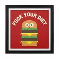 Discounting Calories - black-square-framed-print - small view