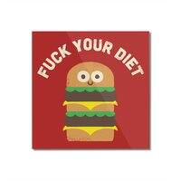Discounting Calories - square-mounted-acrylic-print - small view