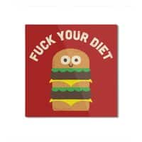 Discounting Calories - square-mounted-aluminum-print - small view