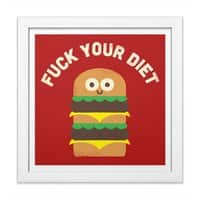 Discounting Calories - white-square-framed-print - small view