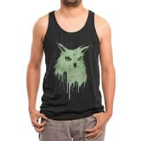 Melting Owl - mens-triblend-tank - small view