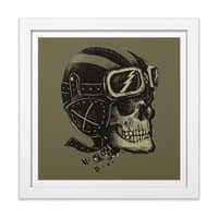 Ride or Die - white-square-framed-print - small view