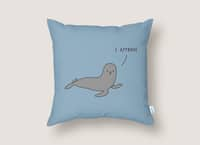 Seal of Approval - throw-pillow - small view