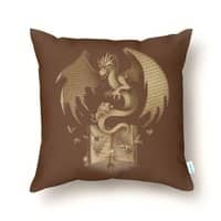 The Mysterious Game of the Throne - throw-pillow - small view