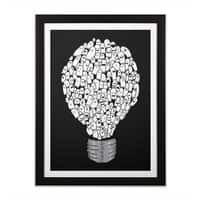 Ghost Bulb - black-vertical-framed-print - small view