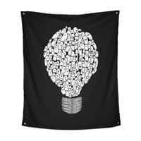 Ghost Bulb - indoor-wall-tapestry-vertical - small view