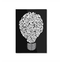 Ghost Bulb - vertical-mounted-aluminum-print - small view