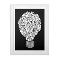 Ghost Bulb - white-vertical-framed-print - small view