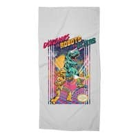 Dinosaurs vs. Robots vs. Aliens - beach-towel - small view