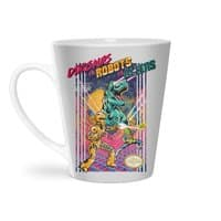 Dinosaurs vs. Robots vs. Aliens - latte-mug - small view