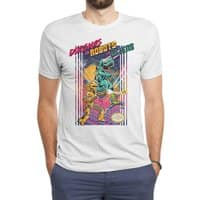 Dinosaurs vs. Robots vs. Aliens - mens-triblend-tee - small view