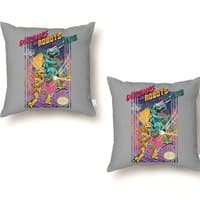 Dinosaurs vs. Robots vs. Aliens - throw-pillow - small view