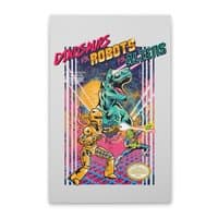 Dinosaurs vs. Robots vs. Aliens - vertical-stretched-canvas - small view