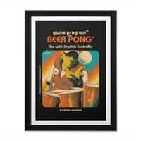 Beer Pong - black-vertical-framed-print - small view