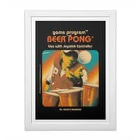 Beer Pong - white-vertical-framed-print - small view