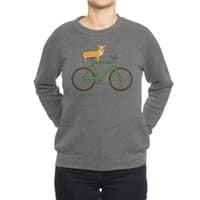 Corgi on a Bike - crew-sweatshirt - small view