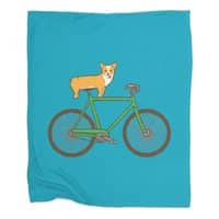 Corgi on a Bike - blanket - small view