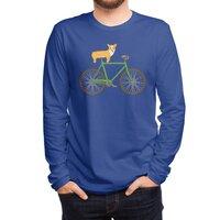 Corgi on a Bike - mens-long-sleeve-tee - small view
