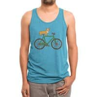 Corgi on a Bike - mens-triblend-tank - small view