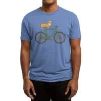 Corgi on a Bike - mens-triblend-tee - small view