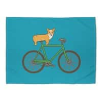 Corgi on a Bike - rug-landscape - small view