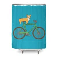 Corgi on a Bike - shower-curtain - small view