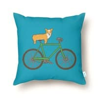 Corgi on a Bike - throw-pillow - small view