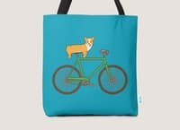 Corgi on a Bike - tote-bag - small view