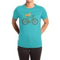 Corgi on a Bike - womens-extra-soft-tee - small view