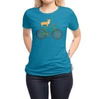 Corgi on a Bike - womens-regular-tee - small view