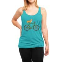 Corgi on a Bike - womens-triblend-racerback-tank - small view