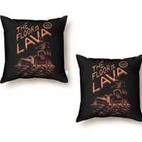 The Floor is Lava - throw-pillow - small view