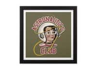 Astro Club - black-square-framed-print - small view