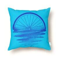 Blue Sunset Mystery - throw-pillow - small view